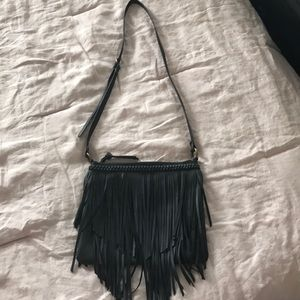 Nordstrom Black fringe Cross body Bag